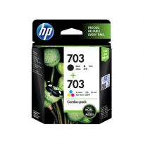 HP 703 Tri-color/Black Ink Cartridge Combo 2-Pack (F6V32AA)