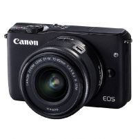 Canon EOS M10 with EF-M15-45mm - Hitam