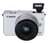 Canon EOS M10 with EF-M15-45mm - Putih