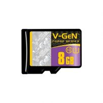 V-GEN Micro SD Card Turbo 8GB + Adapter - Class 10