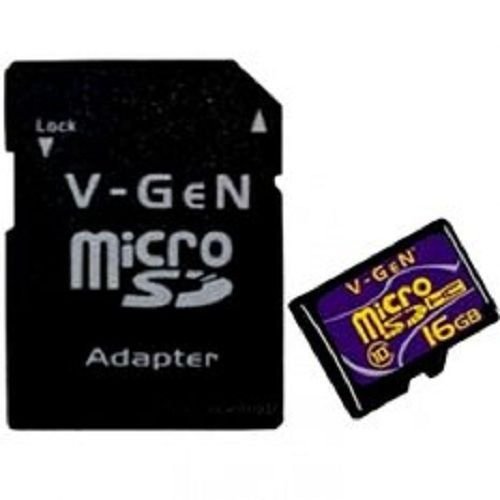 V-GEN Micro SD Card Turbo 16GB + Adapter - Class 10