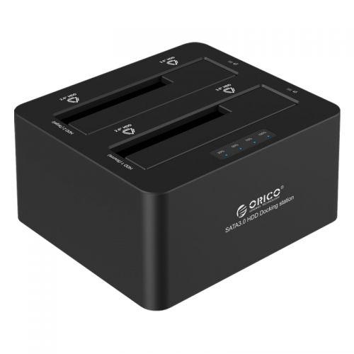 ORICO 6629S3 - Dual Bay SATA3.0 To USB3.0 Docking Station - BLACK