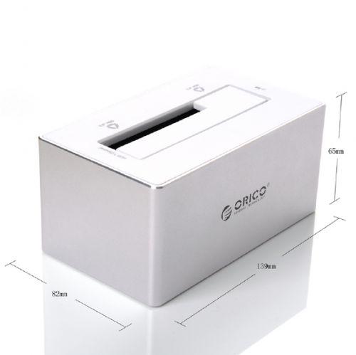 ORICO 6818US3 - SATA3.0 Aluminum HDD Docking Station - WHITE