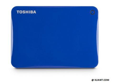 Toshiba Canvio Connect II 3.0 Portable Hard Drive 500GB - Biru