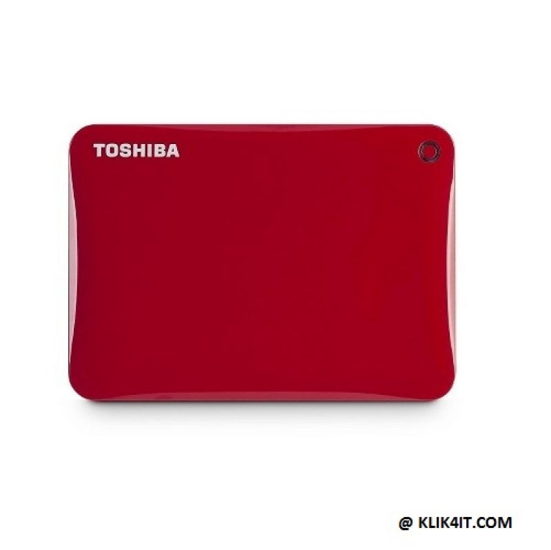 Toshiba Canvio Connect II 3.0 Portable Hard Drive 500GB - Merah