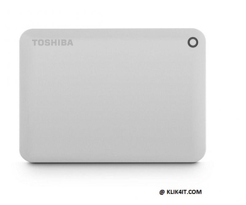 Toshiba Canvio Connect II 3.0 Portable Hard Drive 500GB - Putih
