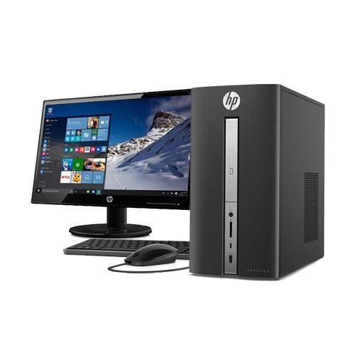 HP PAV 570-P033L -  I3-7100 - DOS (Y0P78AA) + MONITOR 18.5 Inchi (T3U81AA)
