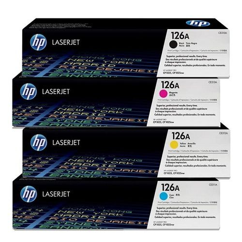 HP 204A LaserJet Toner Cartridge - Yellow (CF512A)