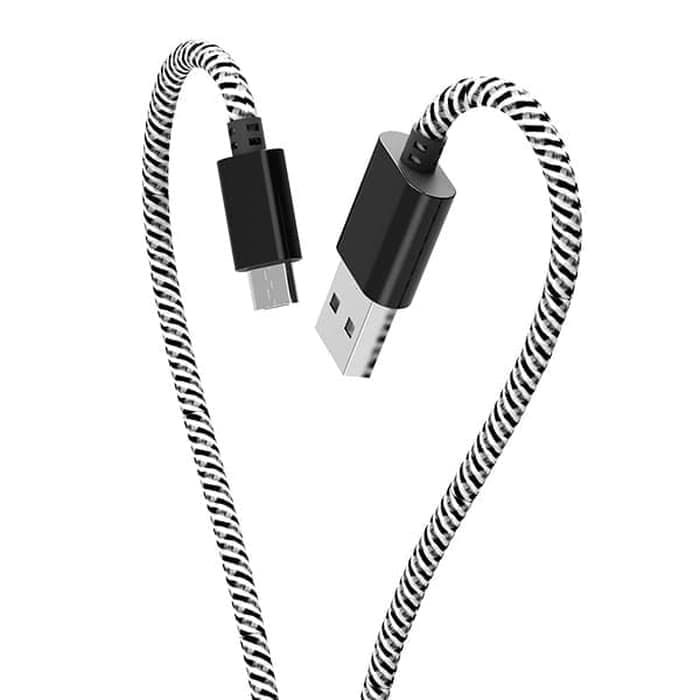 KABEL ROKER WHIP RK-CBD36 2.4A MICRO USB PANJANG 1 METER FAST CHARGING