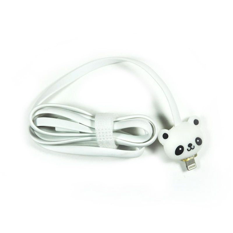 KABEL LED KARTUN IPHONE5 1 METER - PANDA