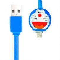 KABEL LED KARTUN IPHONE 5 - Doraemon - Biru