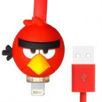 Kabel Led Kartun Iphone 5 - Angry Bird - Merah