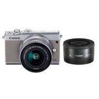 EOS M100 with Double Lens Grey