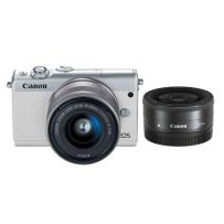 EOS M100 with Double Lens White